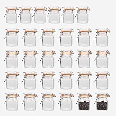 small glass jars