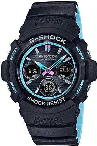 [カシオ] 腕時計 ジーショック Neon accent Color 電波ソーラー AWG-M100SPC-1AJF メンズ