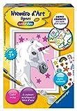 Ravensburger- Numéro d'art Mini-Licorne et Stickers Loisir Créatif