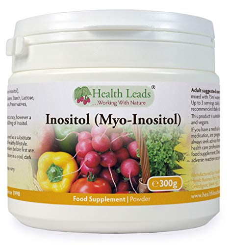 Inositol (Myo-Inositol) Powder 300g, Also Called Vitamin B8, High Absorption, Vegan, Magnesium Stearate Free & No Nasty Additives, Non-GMO, Includes Free Scoop, Produced in Wales