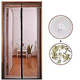 Caliente verano casa dormitorio anti-mosquitos y mosca cortina red magnética cierra automáticamente la puerta cortina de la cocina cortina A5 W120xH210