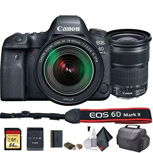 Canon EOS 6D Mark II DSLR Camera with 24-105mm f/3.5-5.6 Lens (International Model) (1897C021) - Starter Bundle