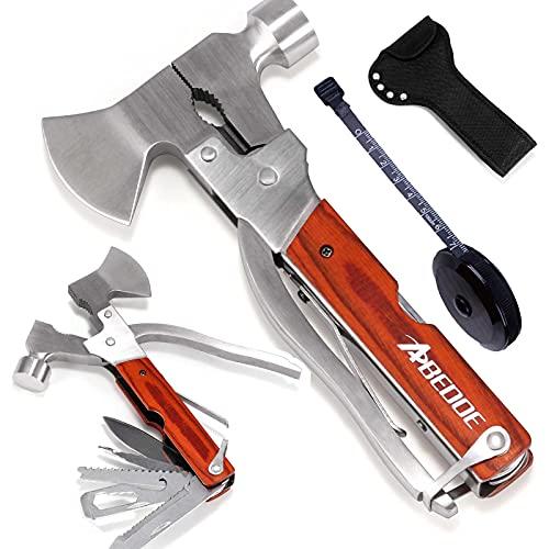 Messer and Axt,Multitool 18 in 1,Multifunktionswerkzeug 18-in-1Edelstahl, Schraubendreher, Zange, Wird für Camping, Wandern, Campingflaschenöffner,Auto und andere Notsituationen verwendet