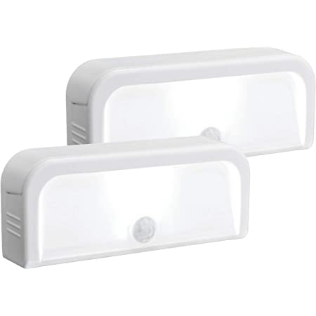 Mr. Beams MB702 Wireless Motion-Sensing Mini Stick-Anywhere LED Nightlights, Small, White, 2-Pack