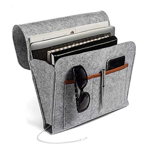 Bedside Pocket Thicker Bed Sofa Bedside Hanging Storage Organizer Tasche mit Tasche für Bücher Telefonbuch Zeitschriften iPad Tablet