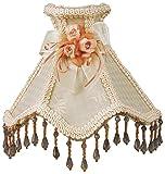 Royal Designs NL-101 Beaded Cream Victorian Nightlight w/Designer Fabric & Trim, w/Bow & Floral Rosettes