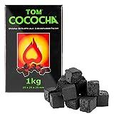 Tom Cococha verde kokosnußschalen Carbón vegetal Natural BBQ Kleine Dados, 1KG