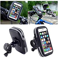DFV mobile - Soporte Profesional Reflectante para Manillar de Bicicleta y Moto Impermeable Giratorio 360 º para WOXTER ZIELO Z-420 Plus HD - Negra