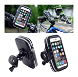 DFV mobile - Professional Reflective Support for Bicycle Handlebar and Rotatable Waterproof Motorcycle 360 for ELEPHONE S7 Mini - Black