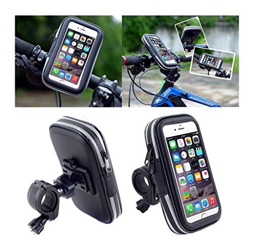DFV mobile - Support Professionnel Réflecteur pour Le Guidon de Bicyclette et la Moto Imperméable Rotative 360 Compatible avec SKYWIN S30 Sun - Noir