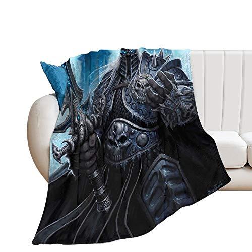 Custom made The Lich King Manta suave y transpirable, manta para cochecito de bebé y cuna, manta para bebé, manta doble, universal, 150 x 130 cm