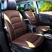 カーシートカバー、汎用通気性メッシュ生地、カーシートカバー、耐摩耗性、トラックやSuv用エアバッグと互換性あり、2個,Coffee color