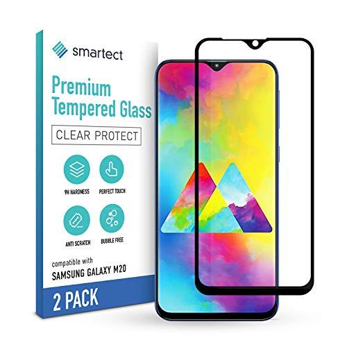 smartect Schutzglas kompatibel mit Samsung Galaxy M20 [2 STÜCK - FULL - CLEAR] - Tempered Glass mit 9H Härte - Blasenfreie Schutzfolie - Anti-Kratzer Displayschutzfolie
