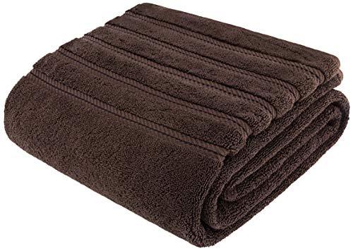 American Soft Linen 100% Ringspun Genuine Cotton Large, Turkish Jumbo Bath Towel 35x70 Premium & Luxury Towels for Bathroom, Maximum Softness & Absorbent Bath Sheet [Worth $34.95] - Chocolate Brown