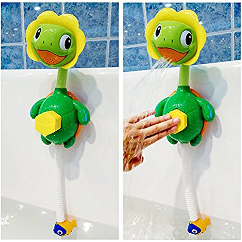 Little Bado Turtle Baby Bath Toys Spray Bathing Tub Fountain Toys for Kid Hand Shower Floating Bathtub Shower Pool Bathroom Toy for Baby Toddler Infant Kids