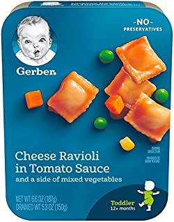 Gerber Lil' Entrees Cheese Ravioli in Tomato Sauce (Pack of 6)