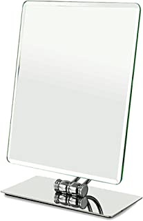 WYXIAN Mirror Rotatable Square HD Imaging Single Side Desktop Metal Dressing Silver (Color : Silver, Size : 21X10X30CM)