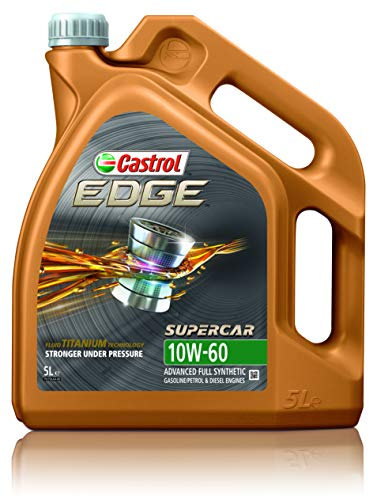 Castrol 1845037 Motoröl Edge 10W-60 5-Liter Supercar WG, Brown