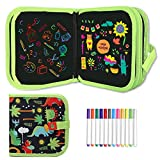Ccinnoe Erasable Doodle Book for Kids-Toddlers Activity Toys Reusable Drawing Pads with 12 Watercolor Pens, Preschool Travel Art Toy, Road Trip Car Game Writing Painting Set for Boys and Girls