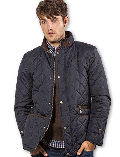 VEDONEIRE Herren Steppjacke (3039) gepolsterten mantel blau schwarz marine herrenjacke wattierte jacke (3XL (brustumfang im zoll 50-52))