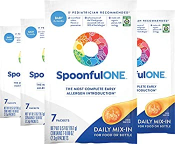 SpoonfulONE Food Allergen Introduction Mix-Ins | Smart Feeding for an Infant or Baby 4+ Months | Certified Organic  28 Packets