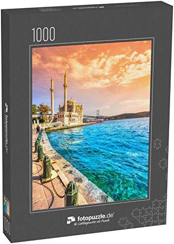 Puzzle 1000 Teile Ortakoy Moschee und Bosporusbrücke, Istanbul, Türkei - Klassische Puzzle, 1000/200/2000 Teile, in edler Motiv-Schachtel, Fotopuzzle-Kollektion 'Türkei'