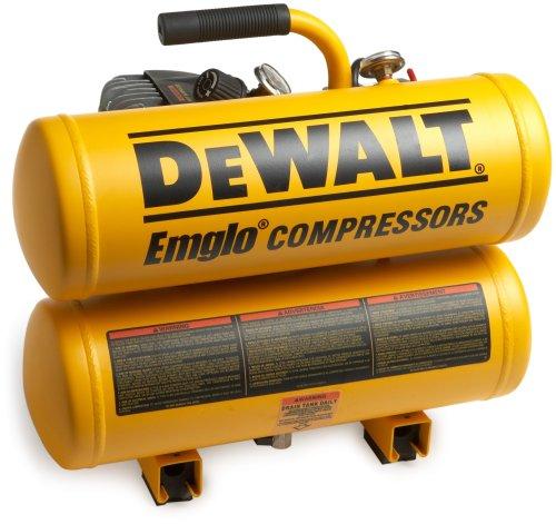 DEWALT D55151R 14 Amp 2-1/2 Horsepower 4-Gallon Oiled Twin Hot Dog Compressor (Renewed by Manufacturer)