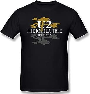 Men U2 The Joshua Tree Tour Casual T Shirts Black
