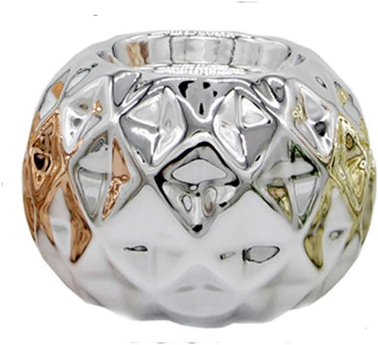 DLYDSSZZ Creative European-Style shipfree Ceramic Spherical Holder Candle Reservation