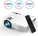TENKER Q5 Mini Projector 1080P Supportted, with Big Display LED Full HD Video Projector, Compatible with 1080P HDMI, Fire TV Stick, VGA, USB, AV for Home Theater Entertainment