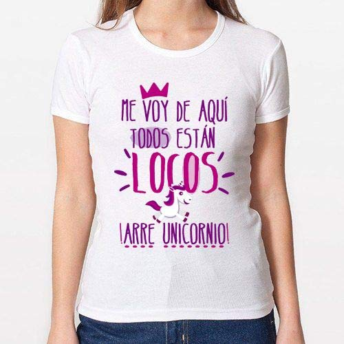 Positivos Camisetas Mujer/Chica - diseño Original Arre Unicornio! - L