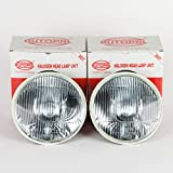 AUTOPAL H6024 7' Round H4 (HB2) DOT Headlamps Conversion with 2 Clear Bulbs