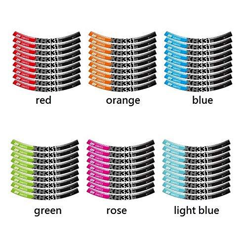 Set de etiqueta engomada de dos ruedas para la etiqueta engomada de la bicicleta de montaña de la bicicleta MTB calcomanías de ciclismo (Color : 29er orange)