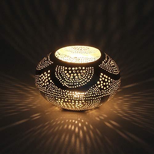 Casa Moro Orientalisches Windlicht Nisanur aus echt versilbertem Messing | Kunsthandwerk aus Marokko | Marokkanisches Laterne Handmade Teelichthalter | Originelle Geschenk-Idee Dekoration | L8011