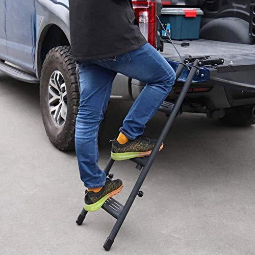 TERMALY Escalera De Techo Trasera Universal para Raptor F150 Dodge Ram,Puerta Trasera...