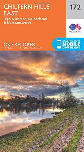 OS Explorer Map (172) Chiltern Hills East