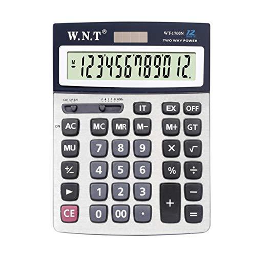 MJSQ rekenmachine, groot, grote toets van de rekenmachine met meerdere functies van de machine met dubbele prestaties, voor kantoor en ramen, groot zonnescherm met 12 dagen