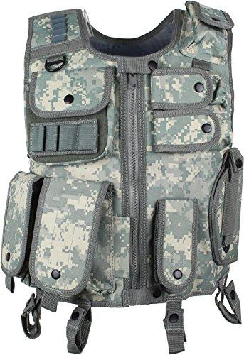 Tactical Gilet SWAT des forces d'assaut avec poches et Holster pour pistolet, - Digitale