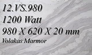 Calefacción por infrarrojos–Calefactor de infrarrojos eléctrico (mármol Magma Calefacción 1200W 12. VS.980R con termostato con 2luces de control, interruptor y ajuste de temperatura Control