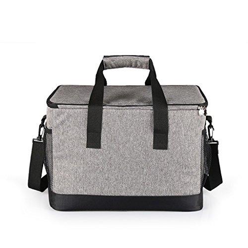 Refrigerador de aislamiento de la comida campestre de la gran capacidad 33L, bolso portátil del congelador del bolso caliente del arroz cuadrado, bolso de aislamiento automotriz del papel de aluminio