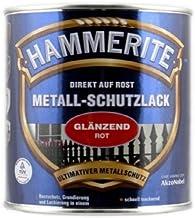 AKZO NOBEL (DIY Hammerite 5087583 metaalbeschermende lak Hammerite metaalbeschermende lak glanzend 0,250 L, rood, 250 ml (...