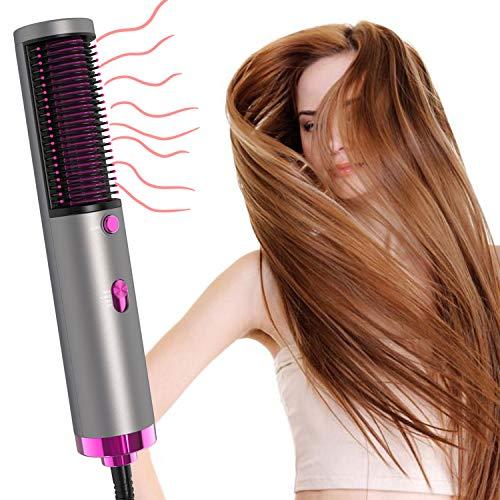 Hair Dryer with Hair Straightener, Ionic Hair Dryer + Damage Protection PTC Hot Straightener, 3-Levels Salon Hair Dryer for Home Christmas Gift for Women (Hair Dryer B)