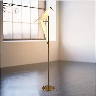 Thousand Paper Crane Lights Modern Floor Lamp Golden Finish Bird Swing Floor Light Suitable for Bedroom Study Living Room Restaurant Cafe Table Lamp (Floor lamp)