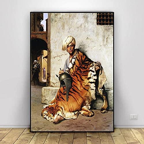 Serie de Pinturas en Lienzo más Famosa del Mundo Pintor francés Jean Leon Gerome Carteles en HD Impresiones Imagen de Arte de Pared para Sala de Estar 40x50cm (15.74x19.68 in) H-147