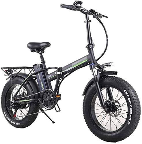 Bicicleta de montaña eléctrica, Plegable bicicleta eléctrica for los adultos, 7 velocidades Shift Montaña bicicleta eléctrica 350W vatios de motor, tres modos de montar a caballo Assist, Pantalla LED