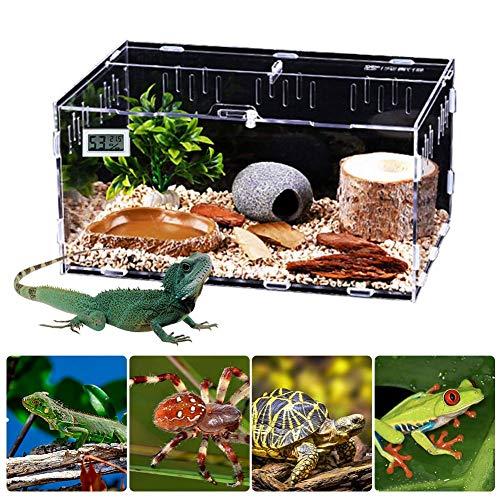 funnyfeng Aquarien, Reptilien Box Acryl Terrarien für Reptilien Amphibien, Zuchtbehälter Terrarium für Schlangenschildkröten, Transportboxen