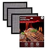 Non Stick Mesh Grill Mat for Cooking – 3Pcs BBQ Grill Topper for Cooking Meat, Fish, Veggies – Non Stick Heat Resistant Grill Pad – Compatible with All Grill Types – Ideal for Grilling, Baking, BBQ