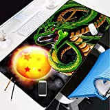 YVQLXJ Large Gaming Mouse Pad XL Anime Star Dragon Ball with Stitched Edges Extended Mousepad Non-Slip Base, Water Resist Keyboard Pad, Desk Mat for Gamer, Office & Home 31.5x11.8x0.12 inch