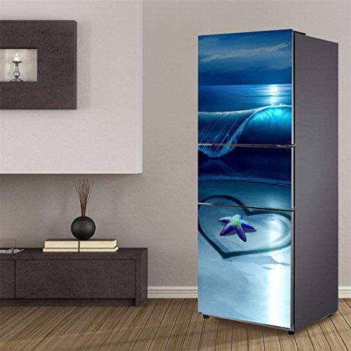 LX- Stickers DIY 3D Wandaufkleber Kühlschrank Tür Wasserdicht Abnehmbare Selbstklebende Vinyl Aufkleber Für Zimmer Dekor Aufkleber Tapete,E,60 * 180CM
