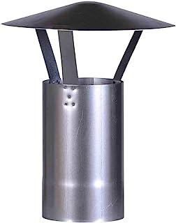 FIREFIX A130/RH Chapeau de Pluie (galvanisé), Hauteur 420 mm, ø 130 mm – pour Tuyau de poêle de 0,6 mm – Argent
